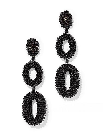 Hoop Drop Beaded Earring - New York & Company