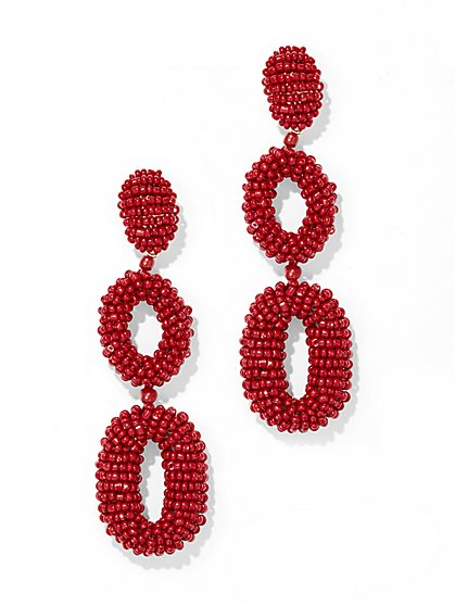 Hoop Drop Beaded Earring - New York & Company