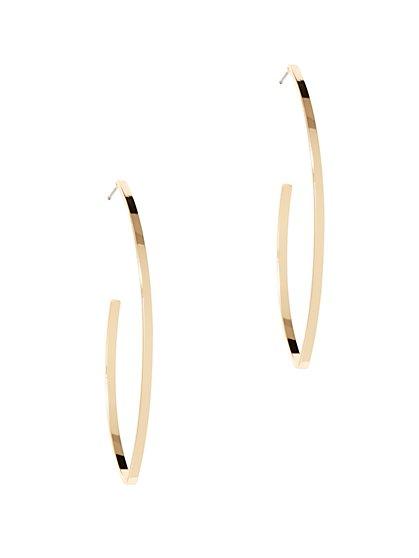 J-Shaped Hoop Earring  - New York & Company