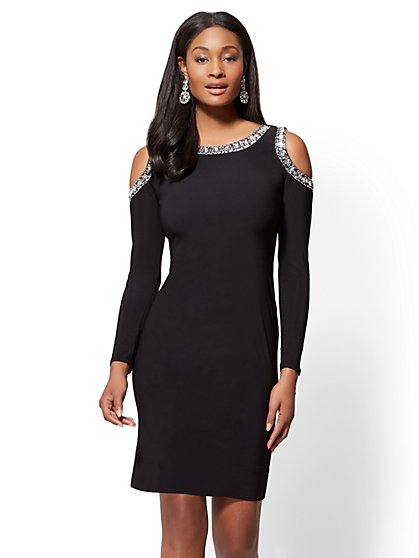 Jones and jones black audrey dress plus