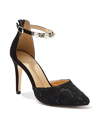 Jeweled Lace Pump - New York & Company