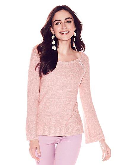 Jeweled Raglan Sweater - New York & Company