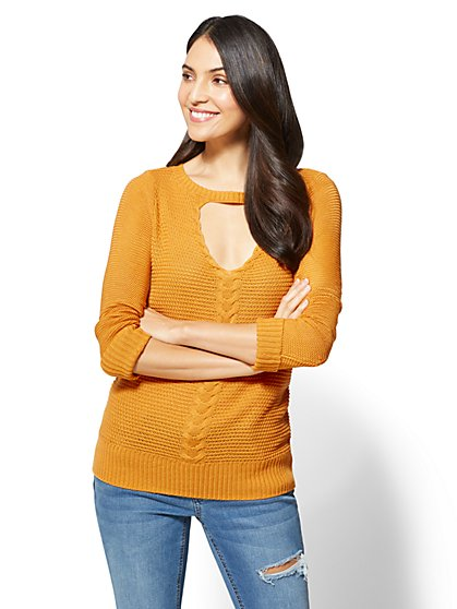Keyhole Tunic Sweater - New York & Company