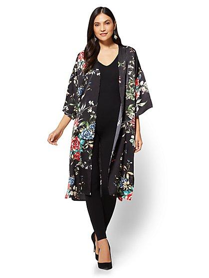 Kimono Duster Jacket - Floral - New York & Company