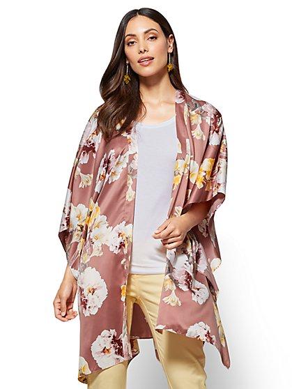 Kimono Jacket - Floral - New York & Company