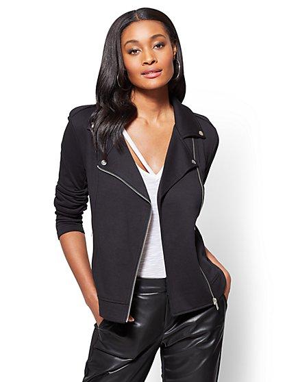 Knit Moto Jacket  - New York & Company