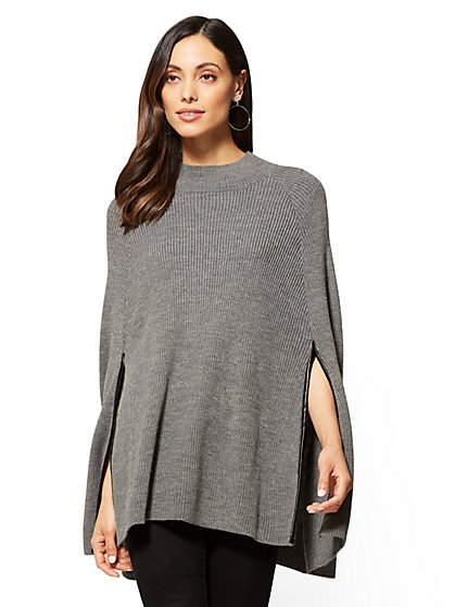 Knit Poncho - New York & Company