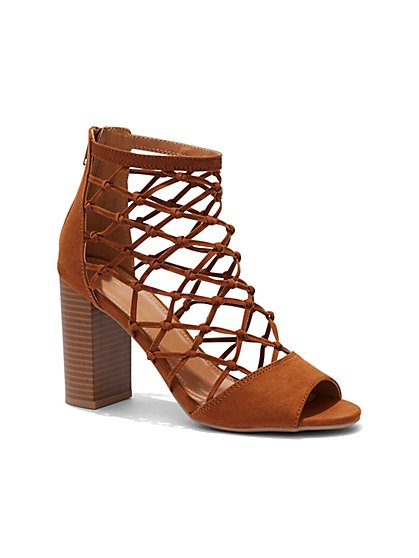 Knot-Detail Caged Sandal - New York & Company