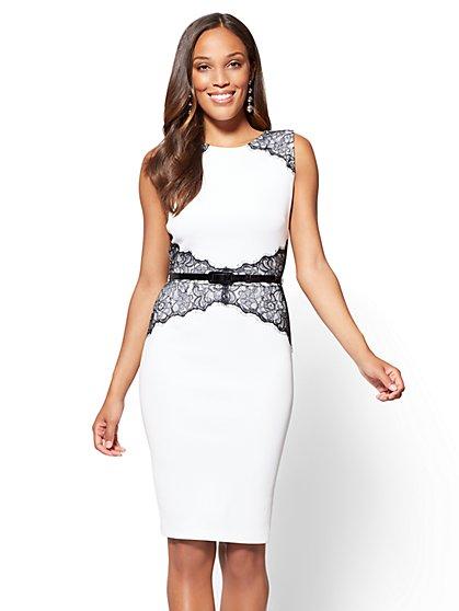 Lace-Accent Sheath Dress - New York & Company