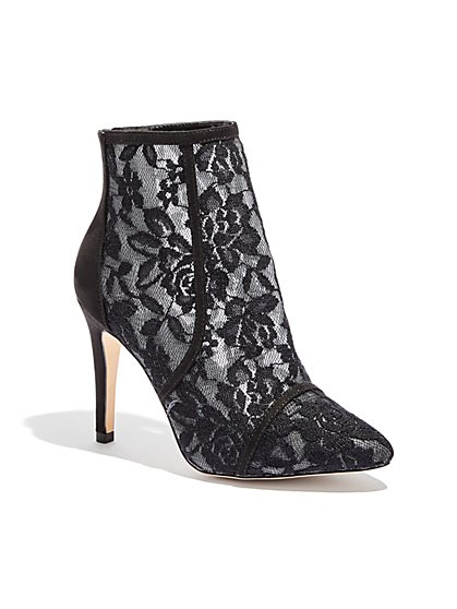Lace Bootie - Black - New York & Company