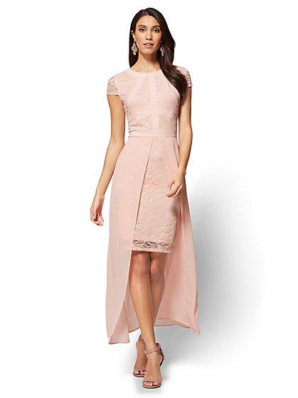 Lace & Chiffon Overlay Maxi Dress - New York & Company