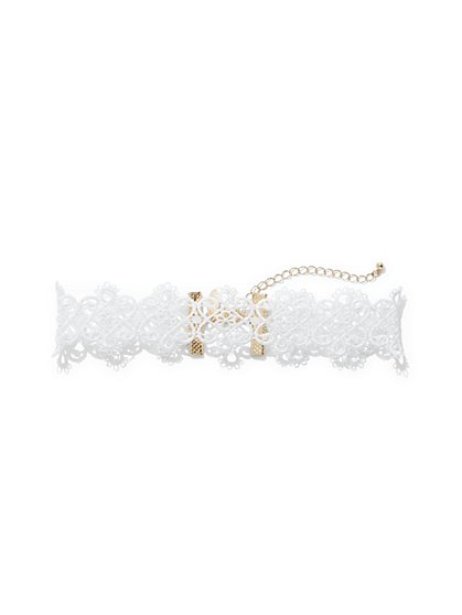 Lace Choker Necklace  - New York & Company