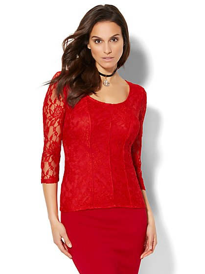 Lace Corset Top - New York & Company