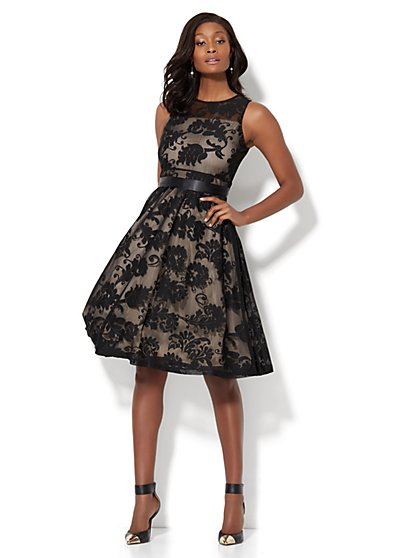 Lace Fit & Flare Dress - New York & Company