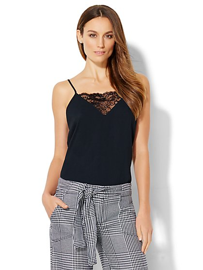 Lace-Inset Camisole  - New York & Company