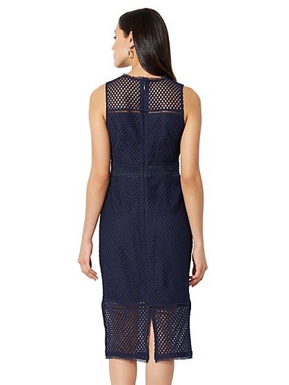 Lace-Mesh Sheath Dress - New York & Company
