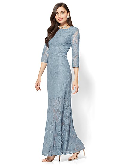 Lace-Overlay Maxi Dress - New York & Company