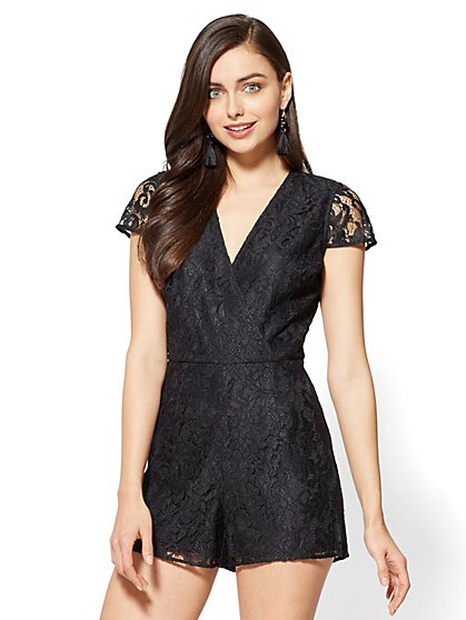 Lace Romper - New York & Company