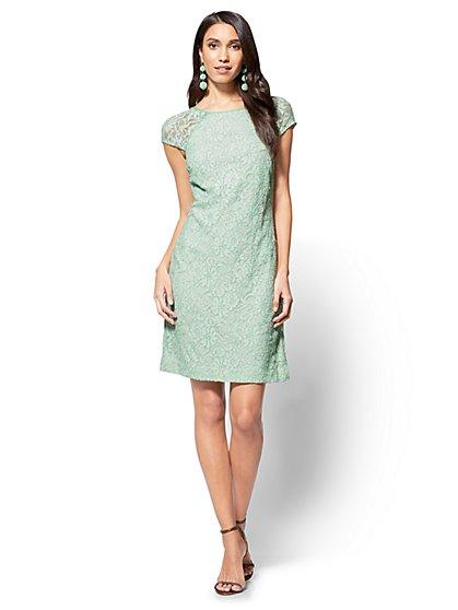 Lace Shift Dress - Petite - New York & Company