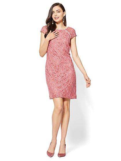 Lace Shift Dress - Tall - New York & Company