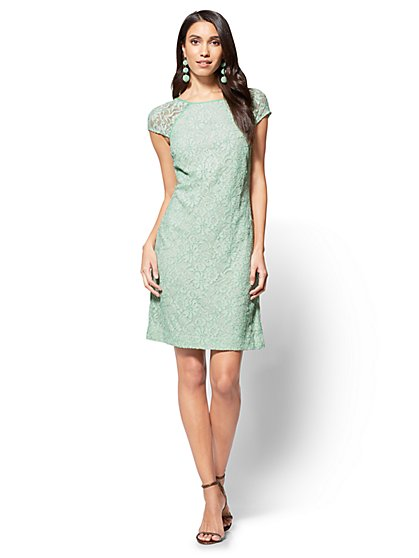 Lace Shift Dress - New York & Company