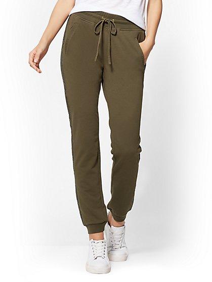 Lace-Trim Jogger Pant - New York & Company