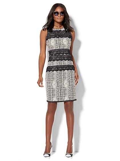 Lace-Trim Sheath Dress  - New York & Company