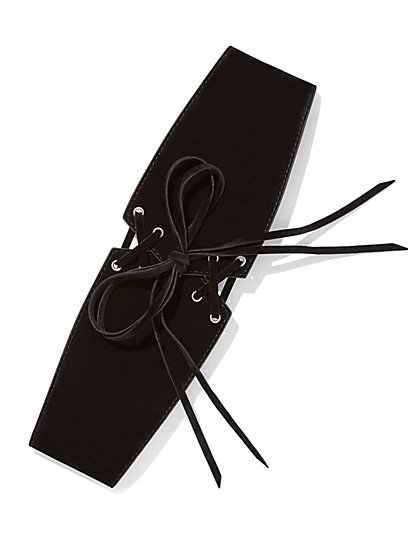 Lace-Up Corset Belt  - New York & Company