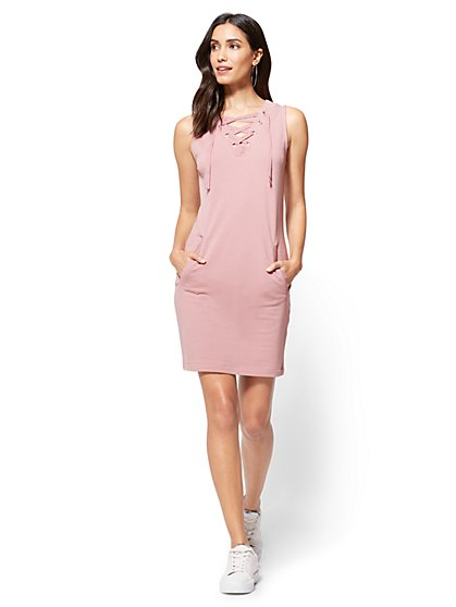 Lace-Up Dress - New York & Company