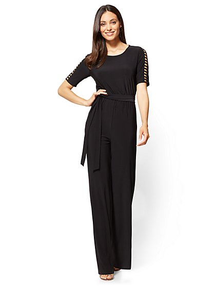 Ladder-Sleeve Jumpsuit - New York & Company