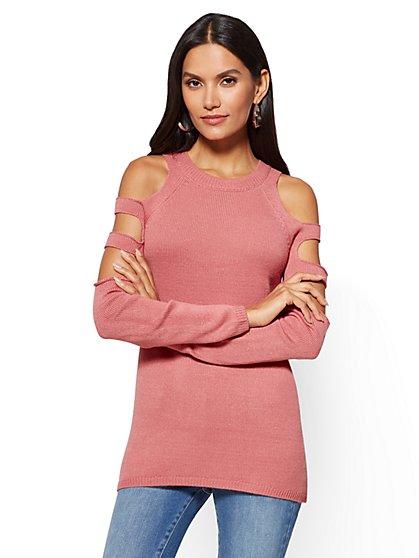 Ladder-Sleeve Tunic Sweater - New York & Company