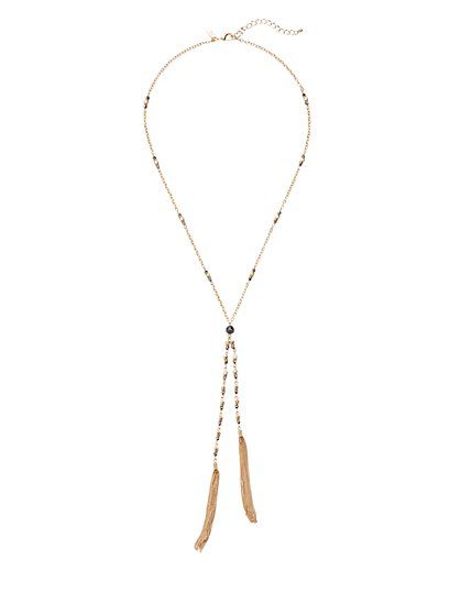 Lariat Tassel Necklace  - New York & Company