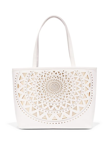 Laser Cutout Tote Bag  - New York & Company