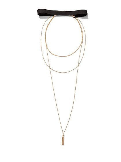 Layered Choker / Pendant Necklace  - New York & Company