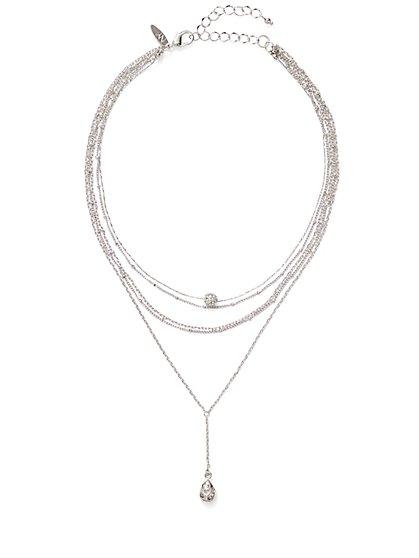 Layered Choker Pendant Necklace  - New York & Company