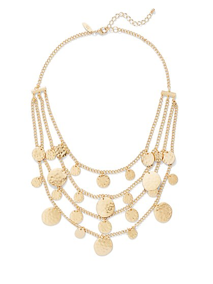 Layered Disc Statement Necklace  - New York & Company
