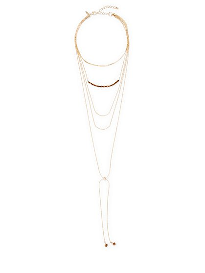 Layered Lariat Necklace  - New York & Company