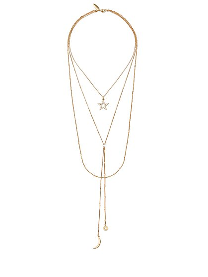 Layered Pendant Necklace  - New York & Company