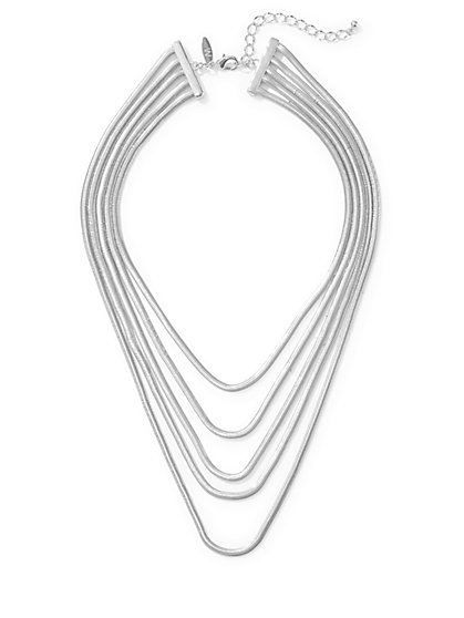 Layered Snake-Chain Necklace  - New York & Company