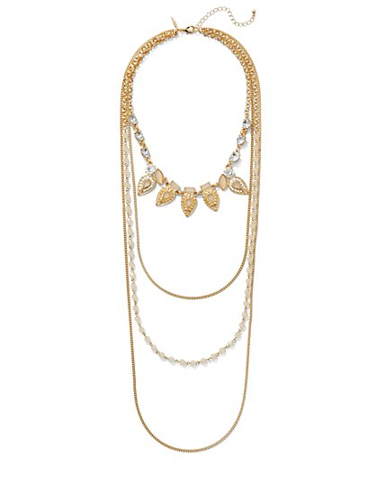 Layered Statement Necklace  - New York & Company
