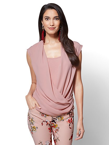 Layered Wrap Top - New York & Company