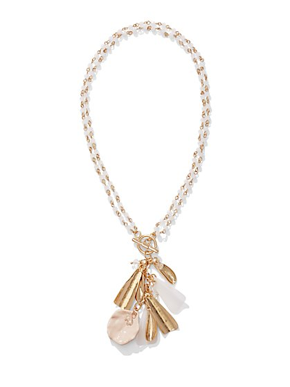 Leaf Charm Pendant Necklace  - New York & Company