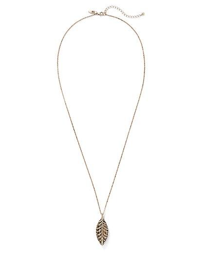 Leaf Pendant Necklace  - New York & Company