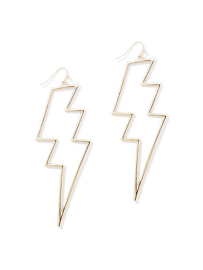 Lightning Bolt Drop Earring - New York & Company