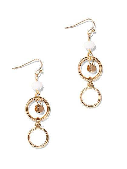 Linear Beaded Drop Earring  - New York & Company