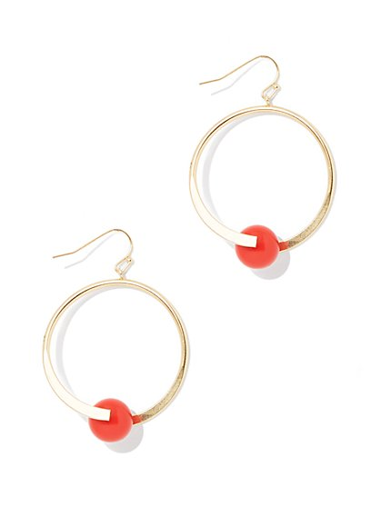 Linear Beaded Drop Earring  - New York & Company