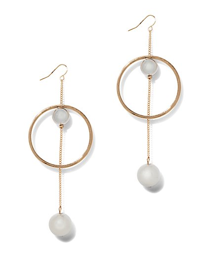 Linear Hoop Drop Earring  - New York & Company