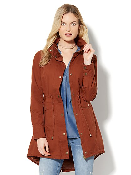 Long Anorak Jacket - Redwood - New York & Company