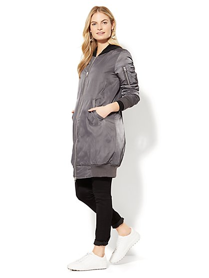 Long Bomber Jacket - New York & Company