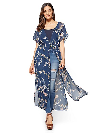 Long Kimono - Floral  - New York & Company